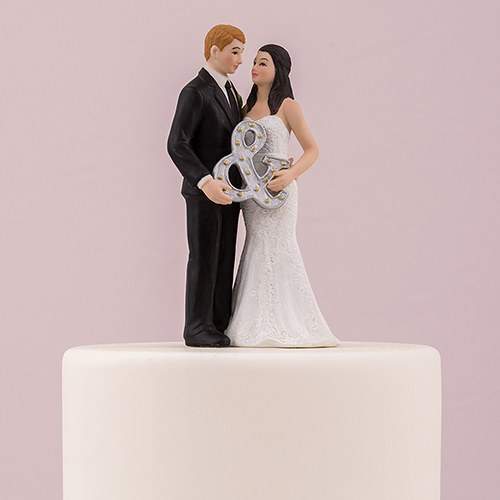 Cake Toppers Uk Next Day Delivery : Mr. & Mrs. Porcelain Figurine Wedding Cake Topper With ...