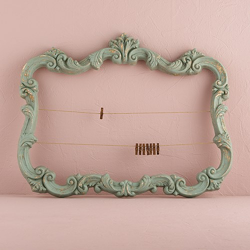 Open ornate vintage inspired frame in aged green weddingstar - Como hacer marcos de fotos originales ...