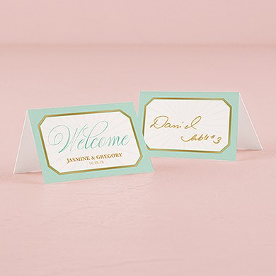 Glitz and Glam Folded Place Card