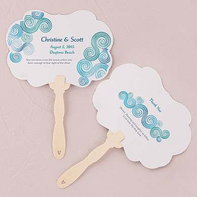 Sea Breeze Hand Fan Wedding Favor