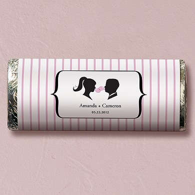Sweet Silhouettes Chocolate Bar Wedding Favor