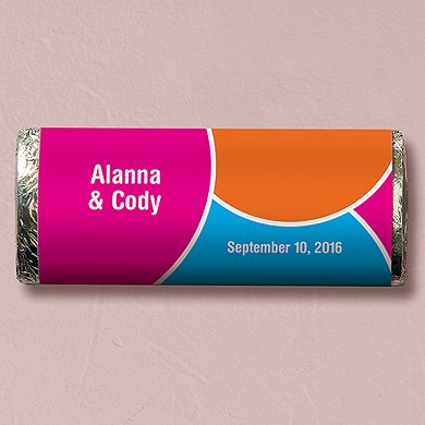 Retro Pop Chocolate Bar Wedding Favor