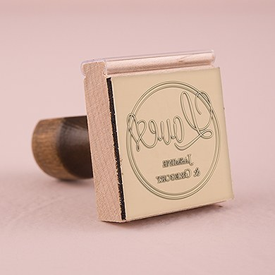 Celebration Personalized Rubber Stamp