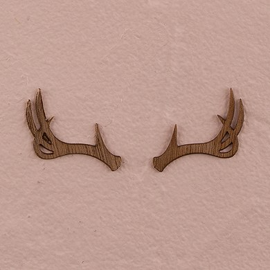 Mini Wood Veneer Antler Embellishments