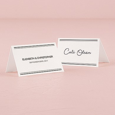 City Style Place Card With Fold