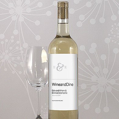 Monogram Simplicity Wine Label   Simple Ampersand