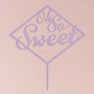 Oh So Sweet Acrylic Cake Topper   Lavender