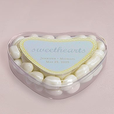 Heart Wedding Candy Favor Containers