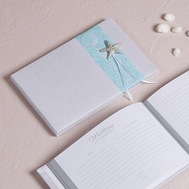 Seaside Allure Traditional Wedding Reception Guest Book