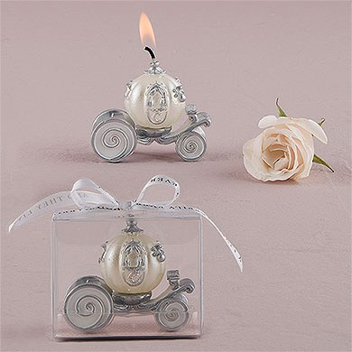 Cinderella Carriage Wedding Favor Candle