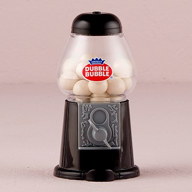Classic Wedding Favor Gumball Machine in Black