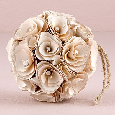 Floral Pomander Ball Made With Wood Curls Medium