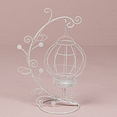 Ornamental Wire Centerpiece Candle Holder Suspended From Vine
