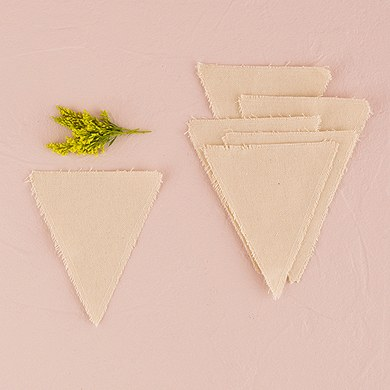 Canvas Fabric DIY Pennants/Flags