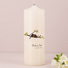Love Bird Personalized Pillar Candles
