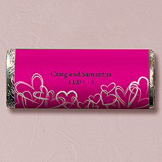 Contemporary Hearts Nut Free Gourmet Milk Chocolate Bar