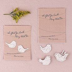 Personalized Flower Seed Favors Love Bird Design