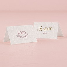 Modern Fairy Tale Place Card With Fold