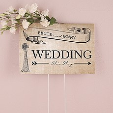 Rustic Country Wedding Directional Sign
