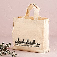 City Style Personalized Tote Bag