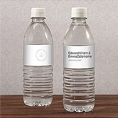 Monogram Simplicity Water Bottle Label - Modern