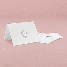 Monogram Simplicity Thank You Card With Fold - Classic Filigree