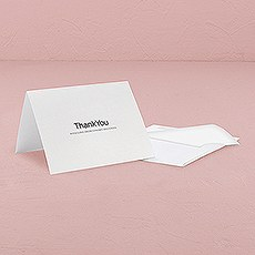 Monogram Simplicity Thank You Card With Fold - Open Area for Embossing/Stamping
