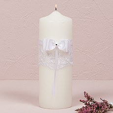 Beverly Clark French Lace Collection Unity Candle