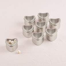 Heart Tins with Clear Top Lids