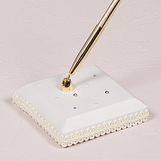 Scattered Pearls & Crystals Designer Pen Base