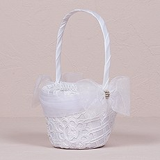 Bridal Tapestry Flower Girl Basket