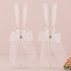 Bridal Tapestry Wedding Champagne Glasses