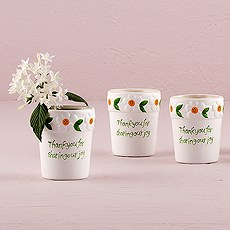 Mini White Daisy Plant Pot Flower Pot Favors