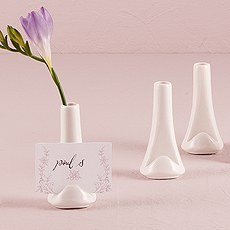 White Mini Favor Vase or Wedding Place Card Holder