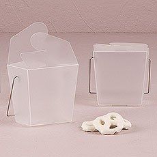 Asian Take Out Boxes - Frosted Acetate
