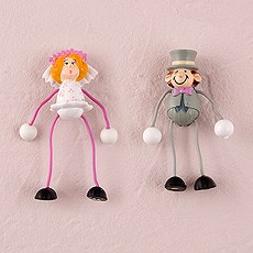 Bendable Comical Bride and Groom Magnets