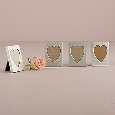 Silver Heart Photo Frame Favor, Place Card Holder
