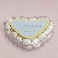 Clear Heart Shaped Favor Box Sweet Candy Container