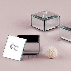Small Mirrored Keepsake Box with Lid