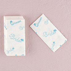 "Bride and Groom Wedding Tissues in traditional ""Something Blue"" Print"