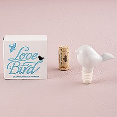 White Ceramic Bird Wine Bottle Stopper Gift Boxed