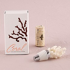 Coral Bottle Stopper with Gift Packaging