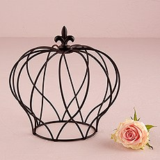 Large Wire Crown Embellishment in Matte Black