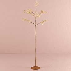 Pearl & Vintage Gold Wire Fantasy Tree