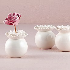 """Pretty Petals"" Porcelain Miniature Flower Vase"