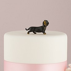 Miniature Black and Tan Dachshund Dog Figurines