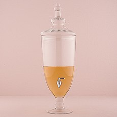 Decorative Apothecary Style Clear Glass Beverage Dispenser