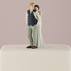 A Sweet Embrace – Bride Embracing Groom Couple Figurine
