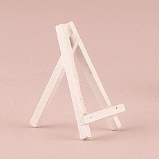 White Wooden Easels - Extra Small