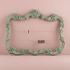Open Ornate Vintage Inspired Frame in Aged Green